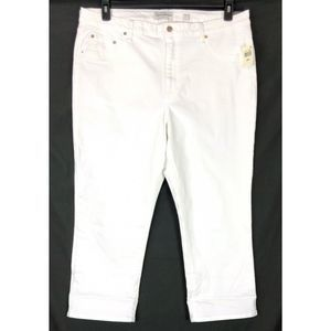 Lucky Brand jeans white curvy emma high rise crop